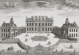 Buckingham House, 1710 (Crédito: Royal Collection)