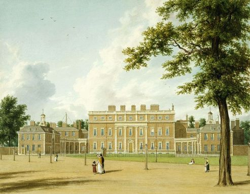Buckingham House, 1819 (Crédito: William Westall/Royal Collection)