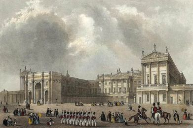 Buckingham Palace no reinado de George IV - (Crédito: J.Woods/Royal Collection)