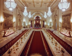 Salão de Baile convertido em sala de banquete, foto atual (Crédito: Royal Collection)