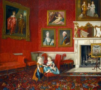 Pintura de George, Príncipe de Gales e futuro Príncipe Regente, de vestido laranja (Créditos: Johan Joseph Zoffany/Royal Collection)