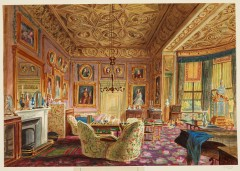 Sala de estar da Rainha Victoria, 1848 (Crédito: James Roberts/Royal Collection)