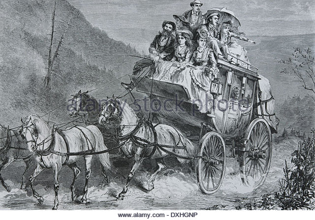 england-travel-stagecoach-engraving-19th-century-dxhgnp