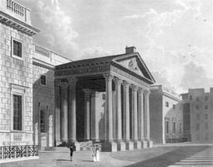 North Front, Carlton House, from The History of the Royal Residences by WH Pyne 1819 vol 3