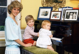 Diana, William e Harry