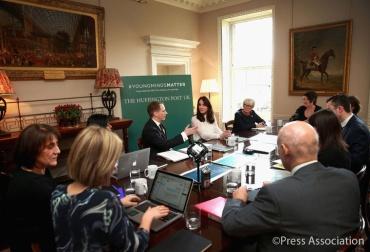 Kate usou a área que virou quartel general das caridades para recepcionar o Huffington Post