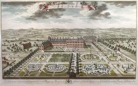 Kensignton Palace por Jan Kip, 1724