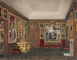 Antiga sala de estar, por James Stephanoff, 1818