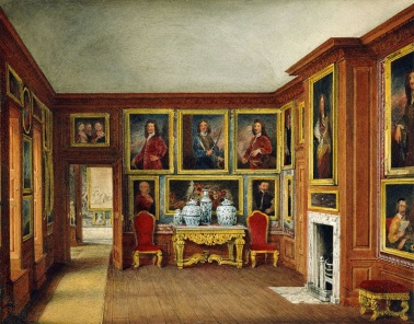 Sala de estar da Rainha Mary, por James Stephanoff, 1817