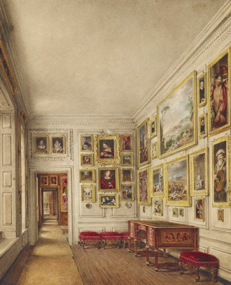 Closet da Rainha, por James Stephanoff 1817