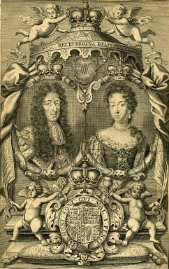Rei William III e Rainha Mary II