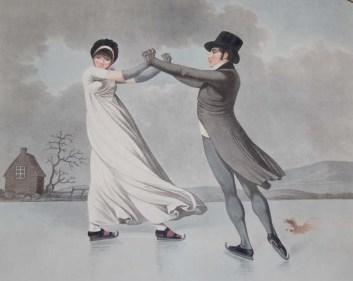 Casal andando no gelo. Mas ela tá muito fresquinha, não?