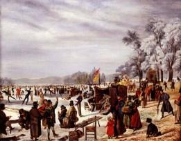 Tarde de patinação no gelo no Serpentine
