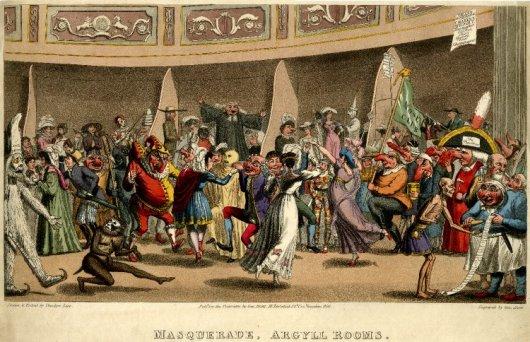 Baile de Máscaras no Argyll Rooms