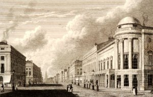 View of Regent St showing Argyl rooms, British Museum