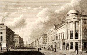 View of Regent St showing Argyl rooms, British Museum