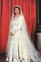 Rainha Elizabeth II, nessa época ainda como Princesa de Gales