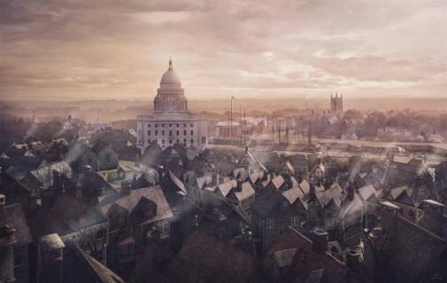 Cidade de Providence, que aparece em vários contos